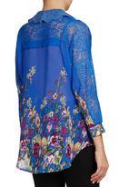 STYLE REPUBLIC - Lace-inset Shirt Multi-colour