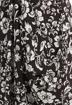 edit - Floral-print Tulip Tunic Black