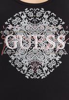 GUESS - Lace Logo Tank Black