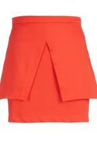 STYLE REPUBLIC - Peplum Mini Skirt Orange