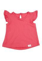 Spree Designer - top with frill sleeves Dark Pink