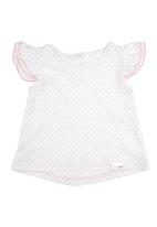 Precioux - Top with Frilly Sleeves Grey