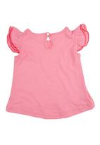 Precioux - Top with Frilly Sleeves Pink