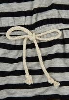 Precioux - Stripe Dress Grey