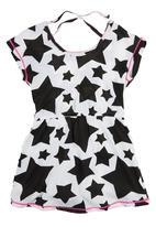 Precioux - Star Dress Top Black/White