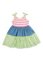 Precioux - Tiered Dress Multi-colour