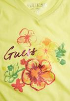 GUESS - Girls Branded Tropical T-shirt Yellow