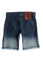 GUESS - Dip Dye Shorts Dark Blue Black Denim