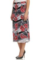 HABITS - Mesh Midi Skirt Multi-colour