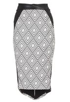 Gert-Johan Coetzee - Metallic Pencil Skirt Black