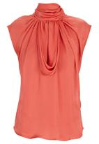 Gert-Johan Coetzee - Cowl Neck Top Orange