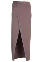 STYLE REPUBLIC - Wrap Maxi Skirt Stone