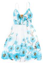 She's Cool - Floral Strappy Dress Blue
