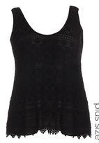 City Chic - Daisy Crochet Top Black