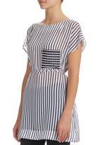 HABITS - Striped Tunic Black/White