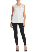 KARMA - Lace Zeta Shirt White
