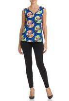 AfroDizzy - African-print V-neck Cami Multi-colour