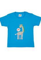 Kushner - Giraffe T-shirt Blue