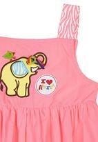 Kushner - Elephant Pocket Dress Pink