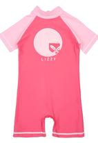 Lizzy - Sunsuit with Print Dark Pink