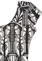 Precioux - Geo-print Dress Black/White
