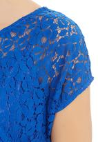 GEORGIE.B - Lace Top With Cami Blue