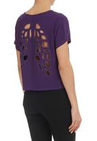 STYLE REPUBLIC - Cut-out Top Mid Purple