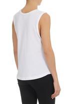 edge - Slouchy Yoga Vest  White