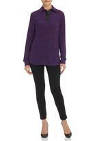 KARMA - Long-Sleeve Stripe Top Pale Purple