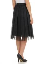 Clive Rundle - Knife-pleat Skirt Black