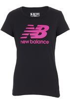 New Balance  - Large logo tee  Black