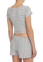 edge - Sleepwear Set With Lace Detail Grey
