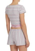 Spree Designer - Short sleeve set with lace detail Mid Pink