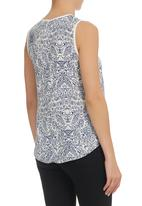 edge - Printed Cami Blue/White