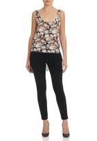 STYLE REPUBLIC - Floral Fringed Cami Multi-colour