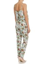 STYLE REPUBLIC - Tropical-print Layered Jumpsuit Multi-colour