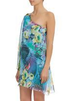 Leandra Designs - One-shoulder tunic dress  Multi-colour