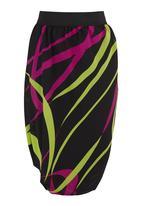 TART - Ribbon-print Double Twist Skirt Multi-colour