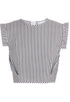 adam&eve; - Vega crop top in black and white stripe Black/White