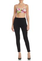 Leandra Designs - Floral Crop Top Multi-colour