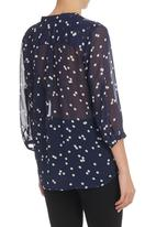 G Couture - POLKA DOT BLOUSE Navy