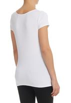 JUST CRUIZIN - Knotted Front Top White