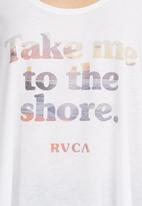 RVCA - Take me singlet fashion tank in vintage white White