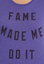 Nike - Fame T-Shirt  Purple