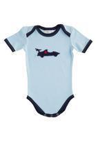 Home Grown Africa - Babygro with Car Design Pale Blue