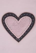 Home Grown Africa - Babygro with Double Heart Design Pale Pink