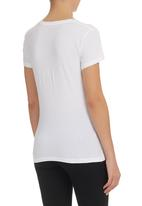 Converse - Printed Scooped T-shirt White