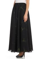 TART - Dragonfly Maxi Skirt Black