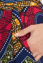 RICH CREATIVE FACTORY - Afro-print Mini Skirt Multi-colour