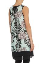 Ilan - Tunic with Floral and Leaf Print Multi-colour